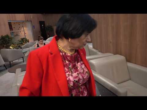 BDMV 173 Aruna & Hari Sharma at Prederred place IGA Lounge Istanbul Airport Nov 11, 2019
