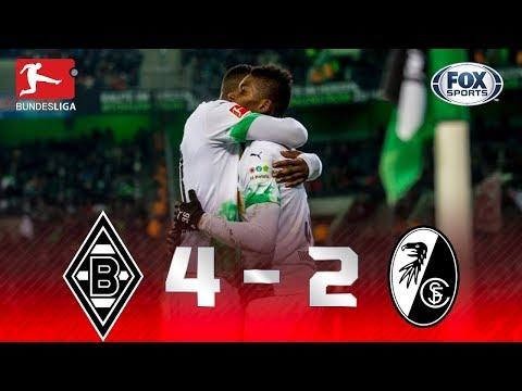 RESSUME A LIDERANÇA! Melhores momentos de Borussia Monchengladbach 4 x 2 Freiburg pela Bundesliga