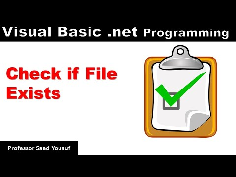 Visual Basic .net Programming – Check if File Exists