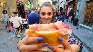 Street Food In Italy - FLORENCES #1 PANINI At Allantico Vinaio + ITALIAN STREET FOOD In Tuscany!
