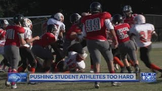 Are student athletes being pushed too hard?