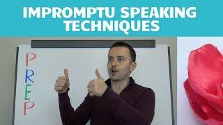 Impromptu Speaking Techniques