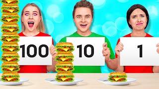 24 HOUR FOOD CHALLENGE #2 || How to Sneak Food by 123 GO! SCHOOL