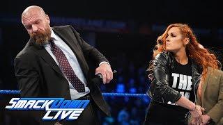 SmackDown LIVE: Lynch abofetea a Triple H; Carmella y Naomi se unen a lucha de Elimination Chamber;