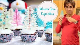 How To Make Winter Tree Cupcakes- Holiday Dessert Idea