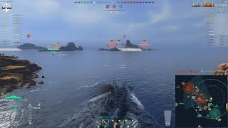 World of Warships - Most exposed in a cruiser, use your surroundings