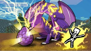 Evolve LIGHTNING DRAGON from Baby to ADULT! (Minecraft)