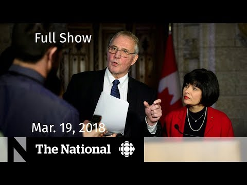 The National for Monday March 19, 2018 — Facebook, Pot, Truth and Reconciliation