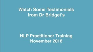 NLP Practitioner Training November 2018