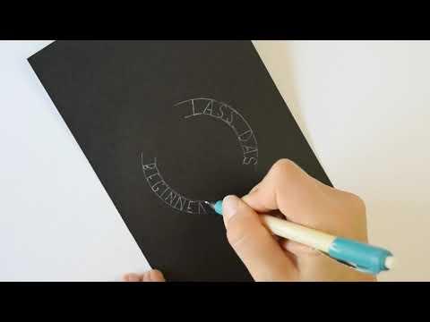 Lettern - weiß auf schwarz