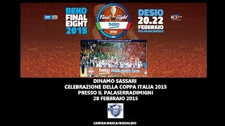 preview picture of video 'Dinamo Sassari - Celebrazione Coppa Italia 2015'