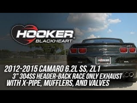 2012-2015 Camaro 6.2L SS, ZL1 Hooker Blackheart Header-Back Race Only Exhaust BH13187