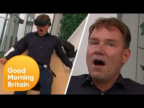Reporter Left Terrified by Virtual Reality Simulator! | Good Morning Britain