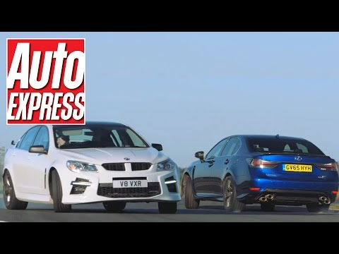 Lexus GS F vs Vauxhall VXR8: mighty V8 saloon track battle