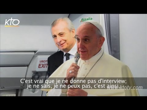 Dans l'avion du Pape François
