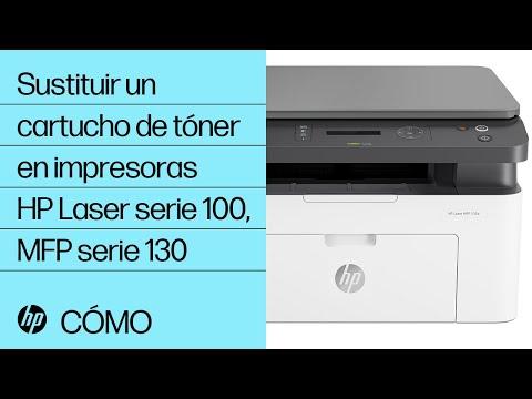 Cómo sustituir un cartucho de tóner en impresoras HP Laser de la serie 100 y MFP de la serie 130
