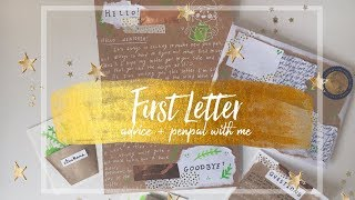 First Letter Advice // Penpal with me #4