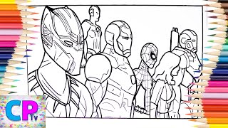 Avengers,Black Panther,SpiderMan Coloring, Superheroes Fights for Freedom,Jim Yosef-Forces/NCS Music