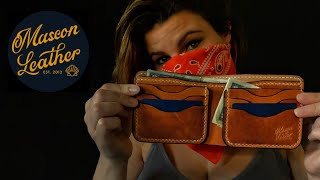 Safe At Home (In The Studio)!  Making A LEATHER Wallet & Having FUN! Quarantined Leather Crafting!