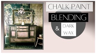 Chalk Painting Furniture Blending And With Dark Wax Tutorial | Custom Colour Wax