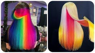 Colorful Hair Ideas 💙Rainbow Color Hair Transformation! Hairstyle Tutorials Compilations #21