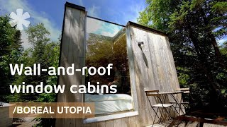 Open-roof cube cabins and containers to build a Boreal utopia