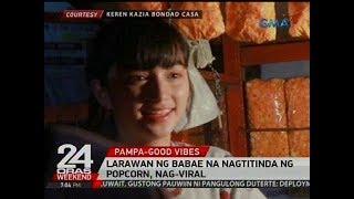 Larawan ng babae na nagtitinda ng popcorn, nag-viral