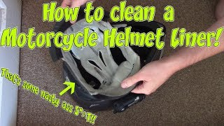 How to clean a Motorcycle Helmet Liner!
