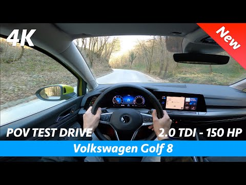 Volkswagen Golf 8 2020 - POV test drive in 4K | 2.0 TDI - 150 HP, 0 - 100 km/h
