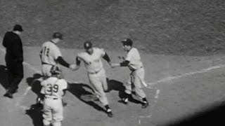 WS1956 Gm7: Howard Hits A Solo Home Run In The 5th