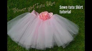 Flower Girl Tutu Skirt:  Sewn Method.