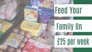Feed your family for £25 a week - Food shopping on a budget and meal plan for family of 4!