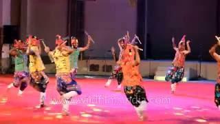 Gujarati folk dancers perform Garba dance in Manipur: East mee...