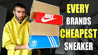I BOUGHT the CHEAPEST SNEAKER from EVERY Sneaker Brand! NIKE, ADIDAS, REEBOK, VANS