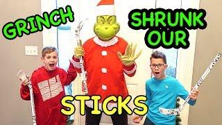 The Grinch Shrunk Our Hockey Sticks!!!