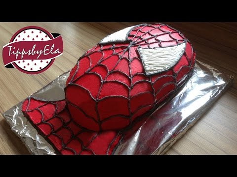 How to make a Spiderman Cake Spider-Man Torte selber machen Tutorial