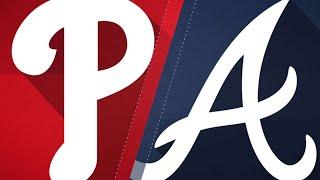 Adams, bullpen lead Braves past Phils, 2-1: 9/23/18 - Video Youtube