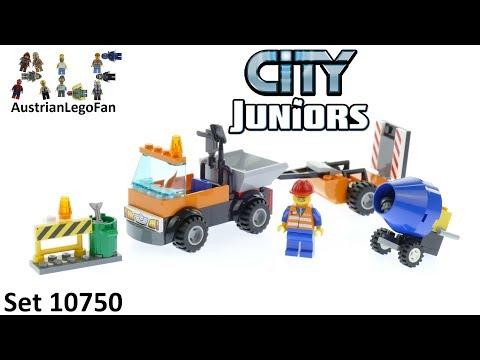 Vidéo LEGO Juniors 10750 : Le camion de réparation des routes