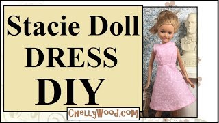 FREE Doll Clothes Patterns: Stacie Doll Dress