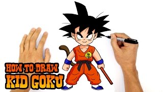 How to Draw Kid Goku | Dragon Ball Z