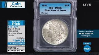 "1921 PMint MS65 ICG Morgan Silver Dollar ""Last Year of I..."