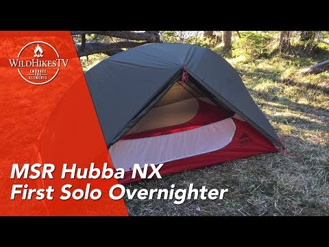 MSR Hubba NX 1 Person - Solo Overnighter - Test