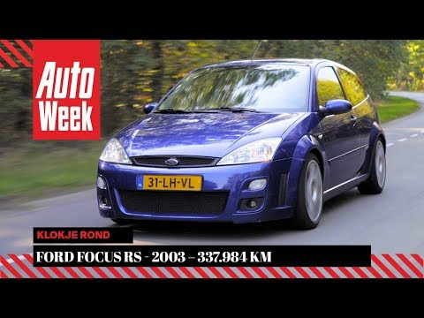 Фото к видео: Ford Focus RS - 2003 – 337.984 km - Klokje Rond - English subtitles
