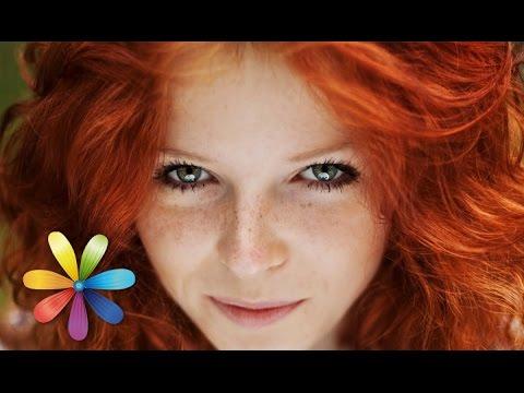 Девочка с рыжими волосами и веснушками
