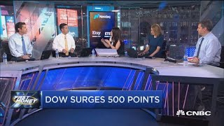 Stocks surge after Wall Street embraces wild day on the Beltway