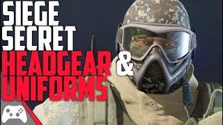Secret/Unreleased Headgear And Uniforms! | Rainbow Six Siege Leaked Headgear  Uniforms