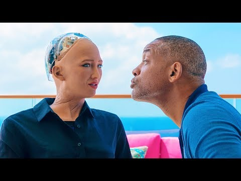 Will Smith na rande s robotkou Sophií