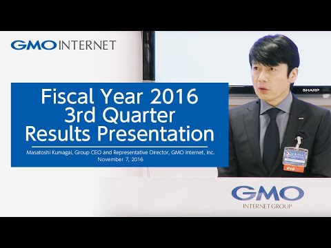 Fiscal Year 2016 3rd Quarter Results Presentation - GMO Internet, Inc.