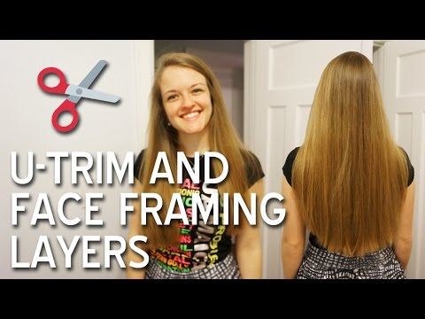 How I Cut My Hair - U-Trim and Face Framing Layers for Long Hair | TypiKelly