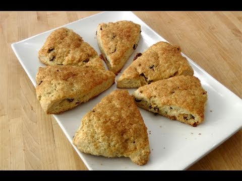 How to make Rum Rasin Scones from Scratch – recipe by Laura Vitale – Laura in the Kitchen ep. 93